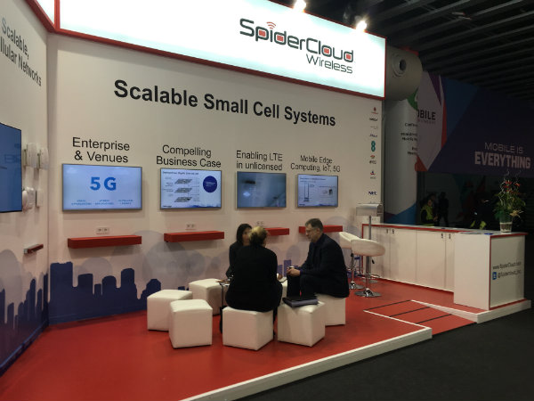 MWC16 Spidercloud Stand