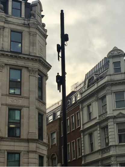City of London Streetpole Triple