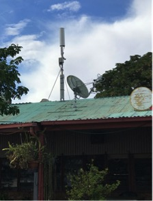 Rooftop Antenna Satellite Backhaul