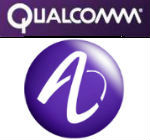 Qualcomm Alcatel Lucent logos