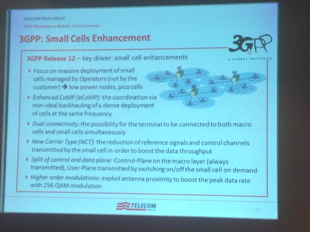 3GPP release 12 small cell features