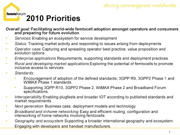 Femto-Forum-2010-Priorities